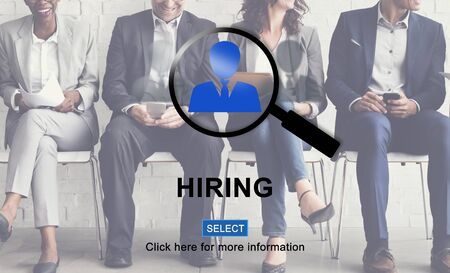 recruiting: Hiring Human Resources Occupation Recruiting Concept
