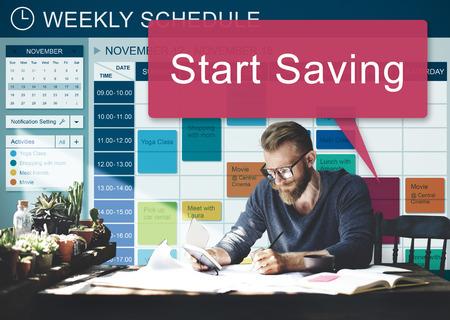 inception: Start Saving Banking Budget Economy Finance Save Concept
