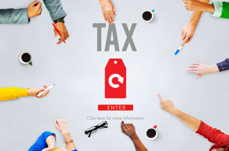 tax refund: Tax Refund Fine Duty Taxation Concept
