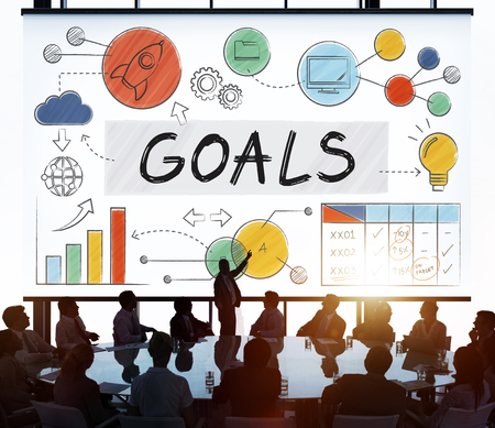 man business oriented: Goals Data Mission Target Aspiration Concept