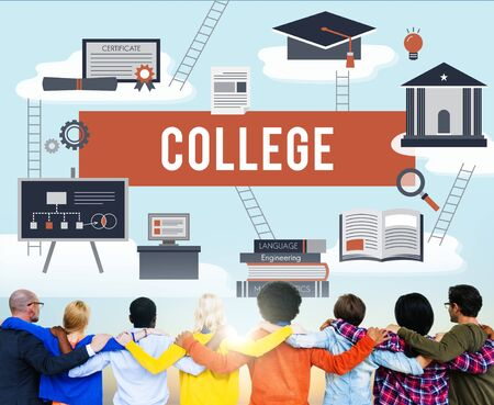huddle: Collage Academic Education Institution Concept