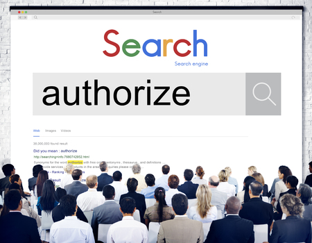 Online search for authorize with audience Stock fotó