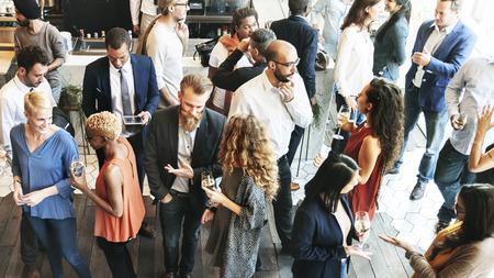 Conceito de negócios Pessoas Reunião Comer Discussão Cuisine partido