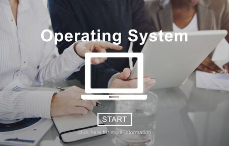 operating system: Operating System Access Connection Interface Concept Stock Photo