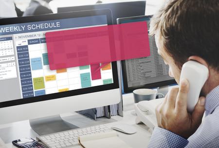event organizer: Weekly Schedule Event Appointment Organizer Concept