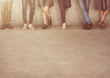 trouser legs: Teens Friends Hipster Fashion Trends Friendship Concept