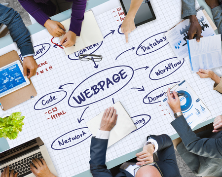 Content and webpage design concept Stock Photo