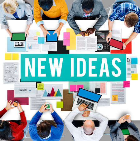 proposition: New Ideas Design Objective Proposition Vision Concept Stock Photo
