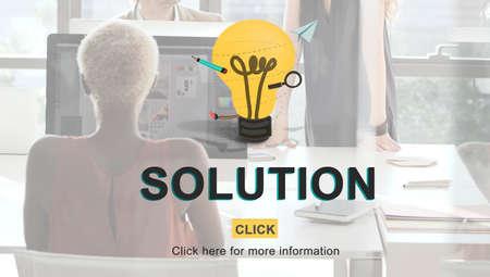 problem solution: Solution Problem Solving Research Progress Strategy Concept