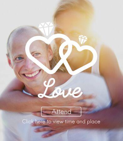 afecto: Amor afecto pasión Pareja intimidad Concept