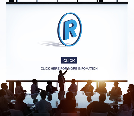 trademark: Right Reserved Trademark Protection Property Concept Stock Photo