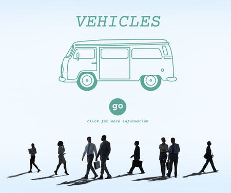 commuting: Vehicles Traveling Adventure Journey Destination Van Concept