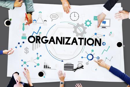 Organisatie Zakelijk Corporate Management Concept