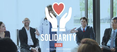mature adult: Solidarity Charity Organization Social Help Concept
