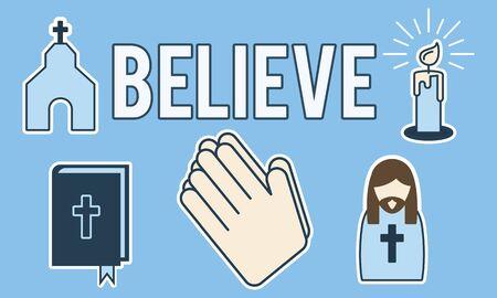 individuality: Believe Faith Individuality Mindset Spirituality Concept