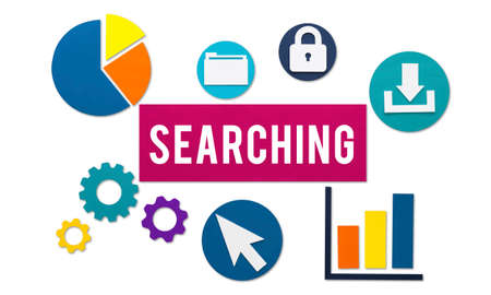 discover: Searching Seeking Discover Exploration Concept