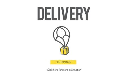 Delivery Courier Commodity Freight Goods Order Concept Stock Photo
