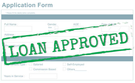 acceptation: Loan Approved Accepted Bank Borrowing Concept