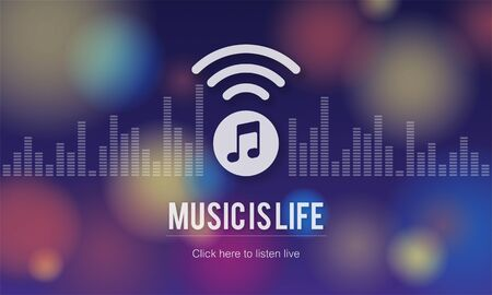 voices: Music is Life Art Audio Expression Melody Playing Concept Stock Photo