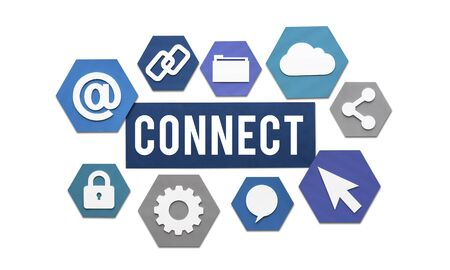 join: Connect Interconnection Communication Join Concept
