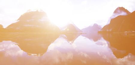 horizon reflection: Environment Freshness Horizon Reflection Water Concept Stock Photo