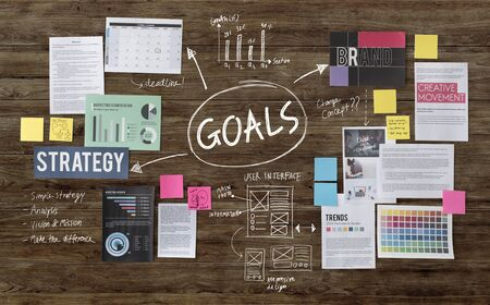 goal oriented: Goals Aim Inspiration Mission Target Vision Concept Stock Photo