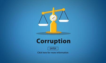 cheat: Corruption Bribe Cheat Illegal Money Finance Concept