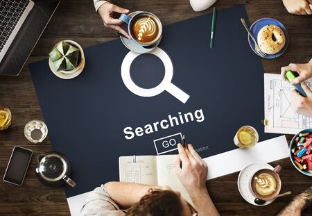 Searching Magnigfy Browsing Search Engine Optimization Concept