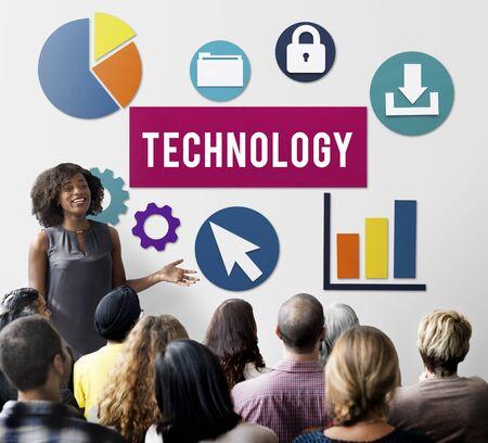 advanced technology: Business Technology Advanced Graphics Concept Stock Photo