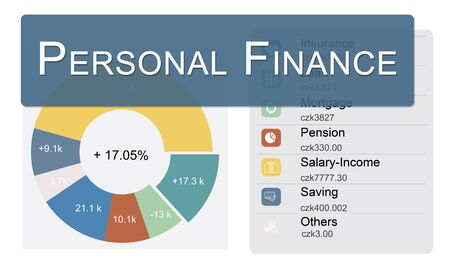 Concepto de privacidad personal Finanzas Información de la balanza