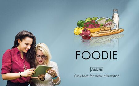 foodie: Foodie Nourishment Eat Gourmet Meal Concept