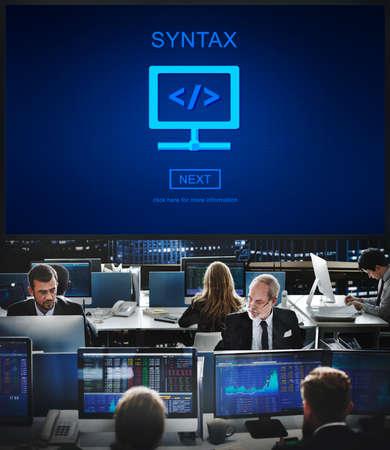 syntax: Syntax Program Internet Programming Coding Data Concept