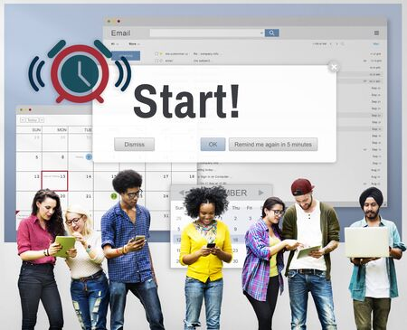 Start Beginning Forward Startup Launch First Activation Concept