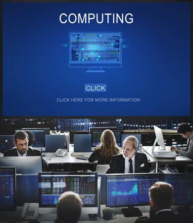hectic: Computing Computer Digital Information Memory Concept Stock Photo