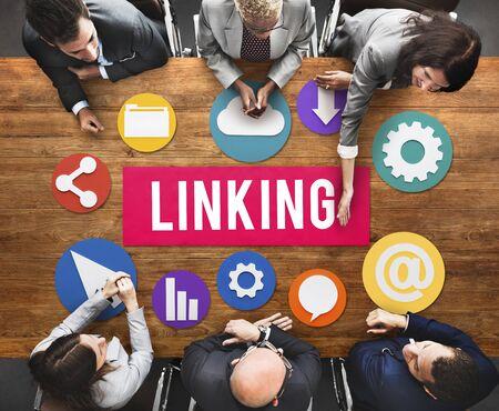 Verbindung des Internet-Verbindungs-Website-Konzeptes