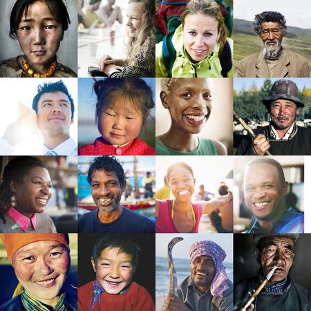 Diversity Diverse Ethnic Ethnicity Unity Variation Concept Banco de Imagens