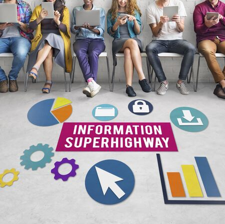 super highway: Information Super Highway Communication Network Concept