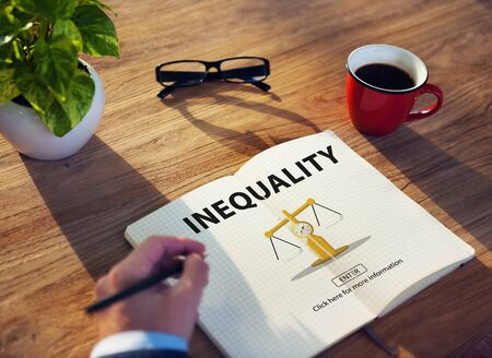 bias: Inequality Imbalance Victims Prejudice Bias Concept