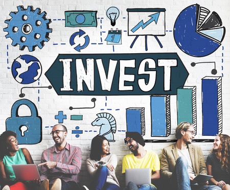 friend chart: Invest Investment Business Economy Finance Concept Stock Photo