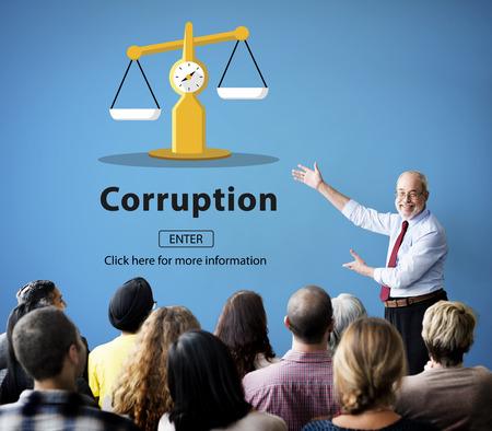 corruptible: Corruption Bribe Cheat Illegal Money Finance Concept