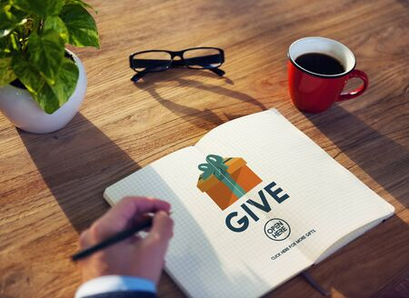 generosity: Give Donate Generosity Giving Support Help Concept Stock Photo