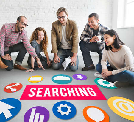 asian business team: Seo Search Engine Optimization Searching Concept Stock Photo