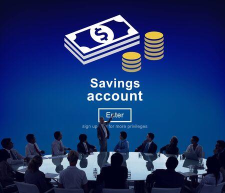 global savings: Savings Account Money Global Finance Concept