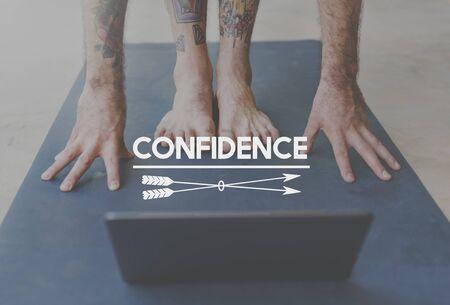self assurance: Confidence Believe Faith Reliability Self Esteem Concept