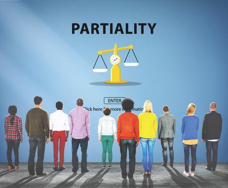 inclination: Partiality Prejudice Unfairness Help Victims Bias Concept