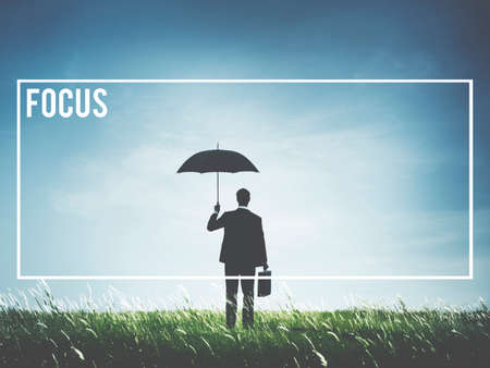 determine: Focus Determine Mission Target Vision Concept Stock Photo