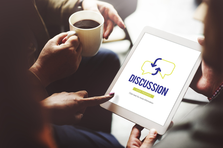 Discussion concept on digital tablet