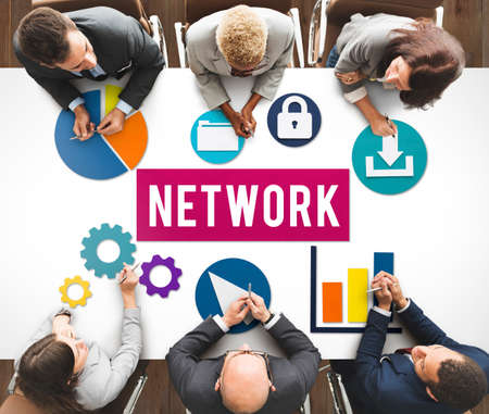 internet connection: Network Networking Internet Connection Concept Stock Photo