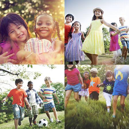 adolescence: La adolescencia Infancia Diversidad Etnia Amigos Concept