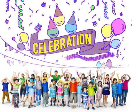 socialize: Celebration Celebrate Anniversary Event Social Concept Stock Photo